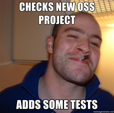 CHECKS NEW OSS PROJECT... ADDS SOME TESTS