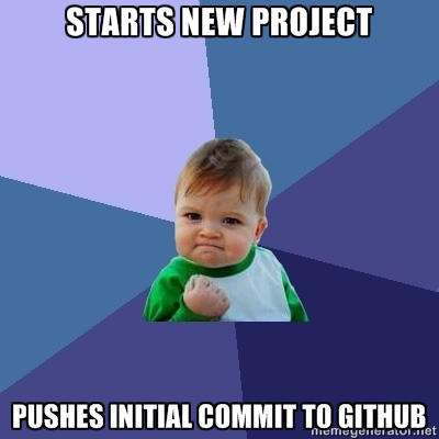 STARTS NEW PROJECT... PUSHES INITIAL COMMIT TO GITHUB